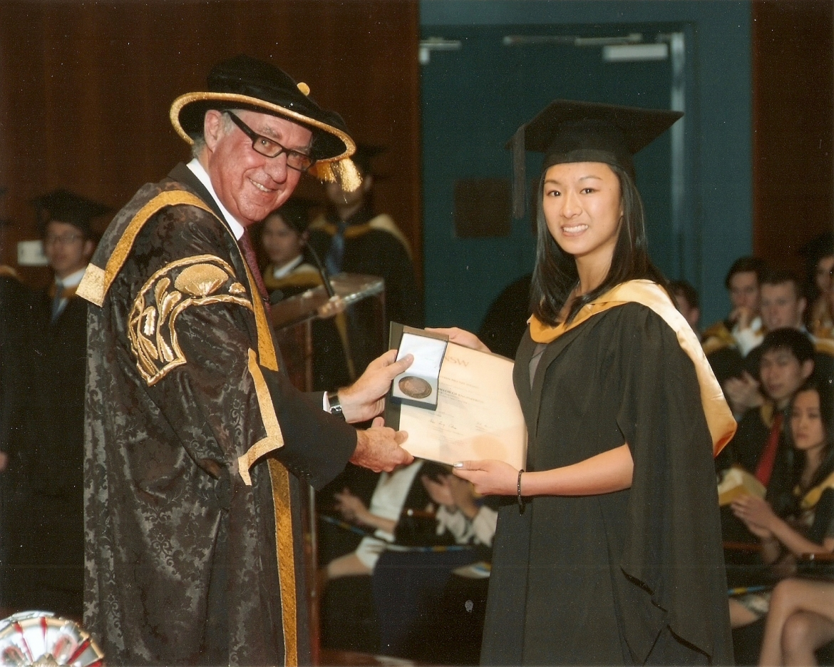 Holstein Wong presented with the University Medal
